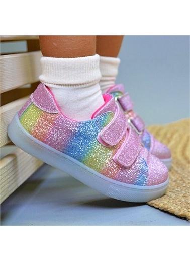 Kids A More Silvery Işıklı nlı Parlak Kız Çocuk Ayakkabısı  Pembe